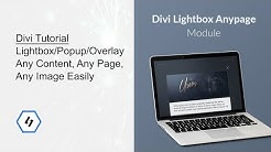 Divi Tutorial - Lightbox/Popup/Overlay Any Content Easily