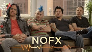 El Hefe, Fat Mike, Eric Melvin, Erik Sandin of punk rock band NOFX ...