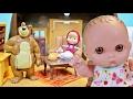 Куклы Пупсики Играют В Игрушки Мультик Маша и Медведь Домик Мишки Покупки Распаковка Зырики ТВ влог