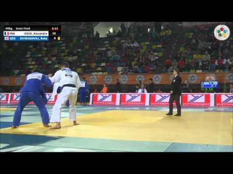 Alexandre IDDIR (FRA) Vs Beka GVINIASHVILI (GEO) - Judo Grand Prix Samsun 2014 [-90kg]