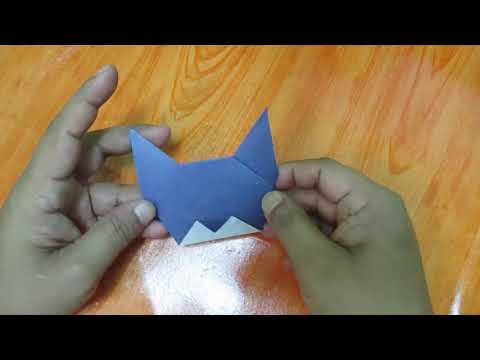 DIY origami Animals How to make a paper cat face origami cat making easy instruction step by step