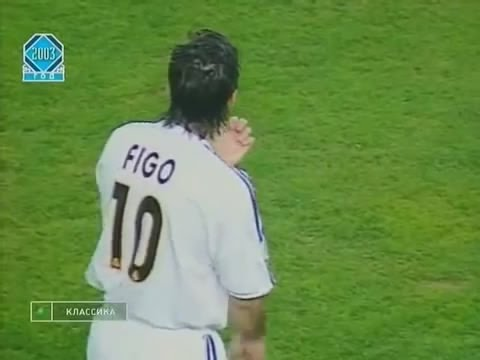 luis figo vs barcelona 2003/2004 at the camp nou