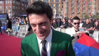 Aram MP3 on the red carpet in Copenhagen Eurovision 2014 Armenia