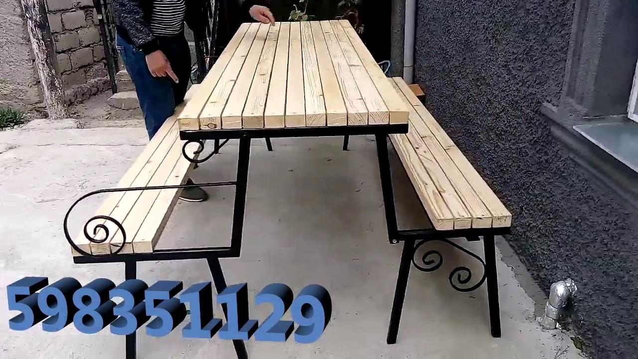 გასაშლელი სკამი მაგიდა ავეჯი რკინის ნაკეთობები gadasashleli skami magida aveji rkinis naketobebi