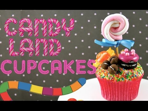 Candy Land Cupcakes! How to make CandyLand Inspired Cup Cakes with Cupcake Addiction