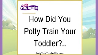 How Did You Potty Train Your Toddler