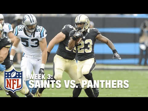 Saints Rookie RB Marcus Murphy with a 74-Yard Punt Return for a TD | Saints vs. Panthers | NFL