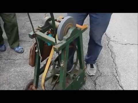 DIY Sharpening Lawnmower Blade- Pedal Power