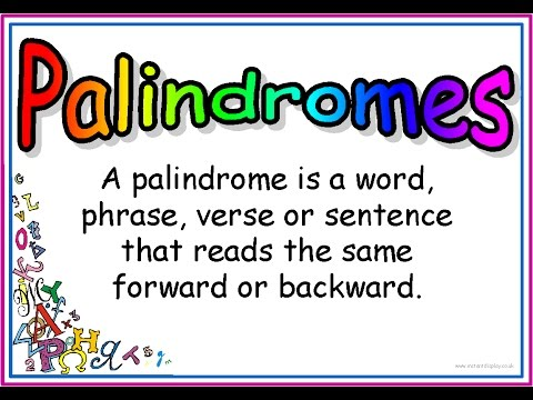 EXPLANATION OF PALINDROME WORDS | Palindromes | Learn English