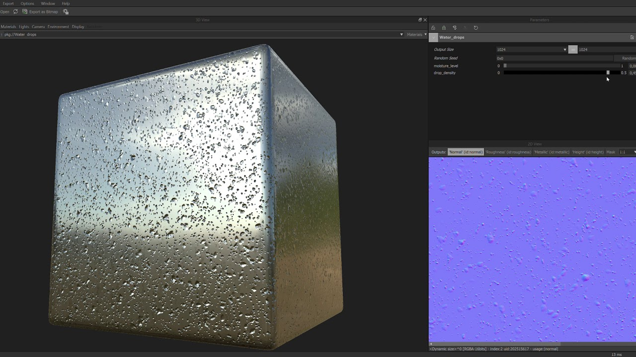 Real-Time Rain Material Within Unreal Engine