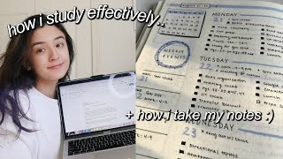 HOW I STUDY EFFECTIVELY + HOW I TAKE MY NOTES!
