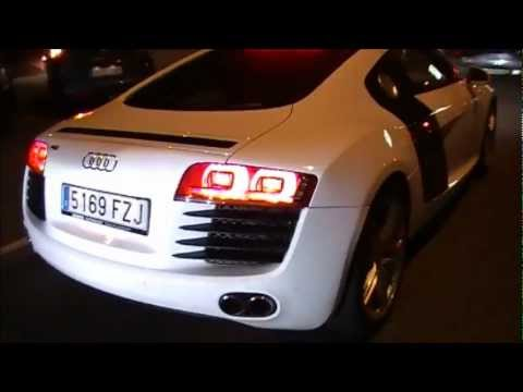 Lionel Messi with his Audi R8