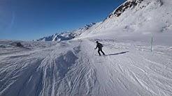 gudauri 2020 jenia spusk kudebi+snowpark