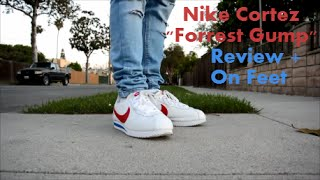 nike cortez forrest gump review on feet watch in 1080p