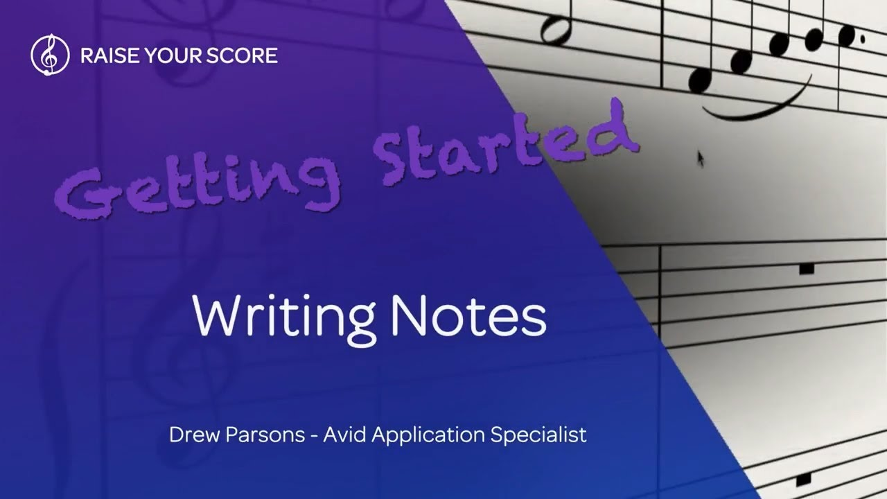 Getting Started with Sibelius | First: Writing Notes