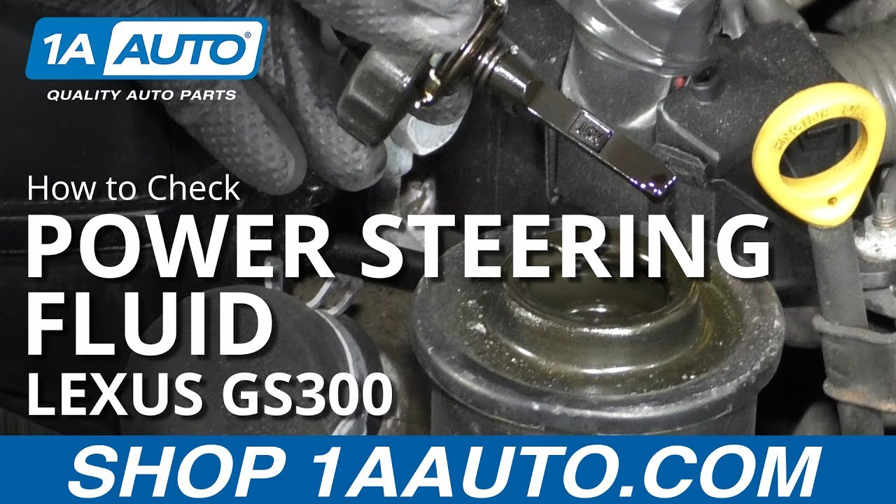 Check Power Steering Fluid >> How To Check Power Steering Fluid 97 05 Lexus Gs300