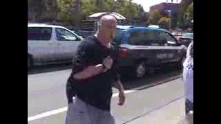 funniest clown, Peter Pitofsky improvising  San Francisco