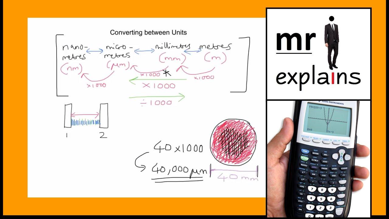Worksheet Conversion Between Units Of Measurement mr i explains how to convert between different units of measurement