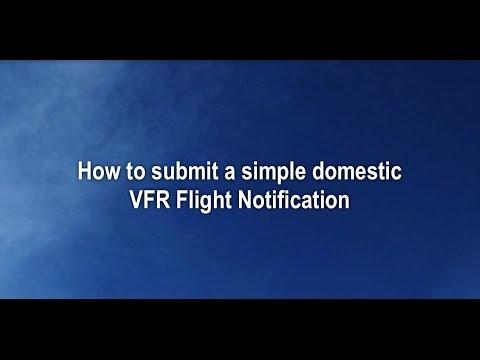Lodge a VFR flight notification