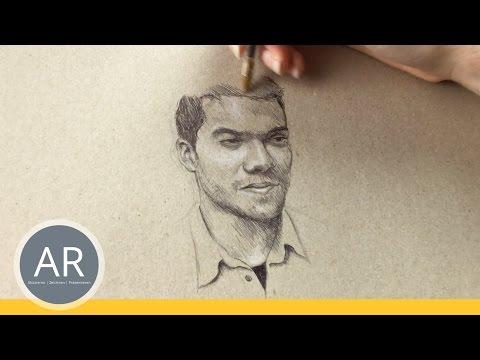 Portraits zeichnen lernen. Gesichter zeichnen lernen. Kreative Techniken.