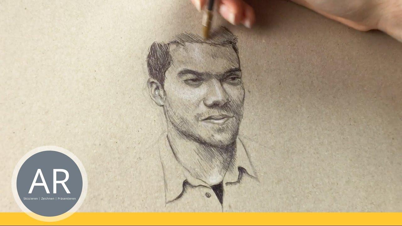 portraits zeichnen lernen gesichter zeichnen lernen kreative techniken youtube. Black Bedroom Furniture Sets. Home Design Ideas