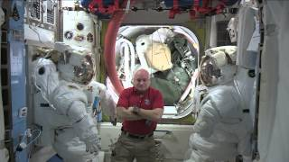 Year-Long Space Station Crew Member Discusses The Progress Of His Mission With The Media