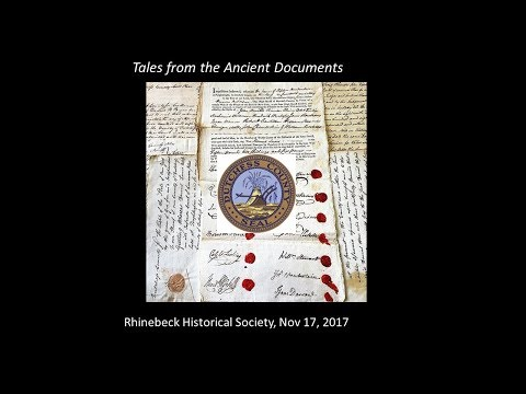 2017-11 Will Tatum - Tales from Dutchess County Ancient Documents   Crime and Society in Rhinebeck