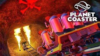 Planet Coaster - Самые страшные горки! С огоньком 🔥 #4