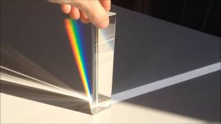 El prisma de Newton - White light through prism