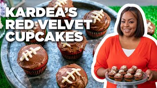 Kardea Brown's Red Velvet Cupcakes with Chocolate Cream Cheese Frosting | Delicious Miss Brown