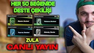 HER 50 BEĞENİDE DESTE ÇEKİLİŞİ ZULA CANLI YAYIN!!