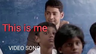 This is me - video song(HINDI)   Dashing cm bharat  Mahesh babu, Kiara advani