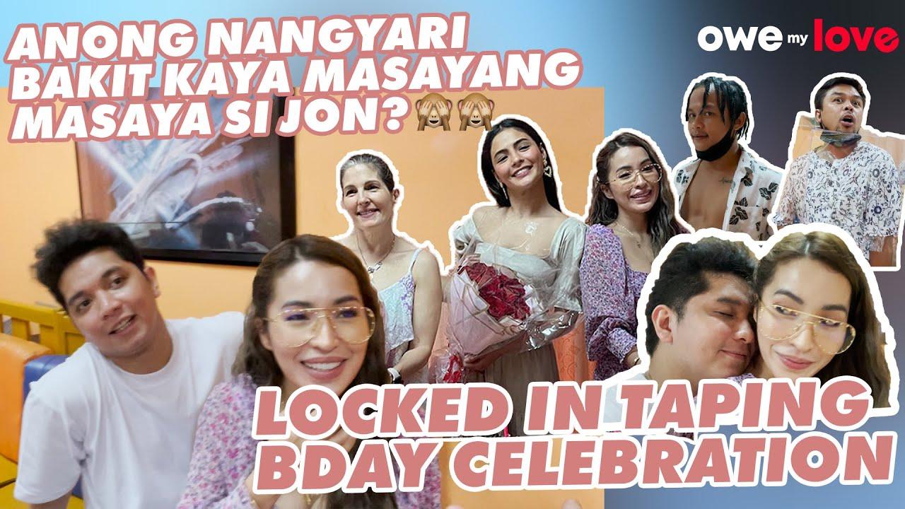 BIRTHDAY KO PERO BAT SIYA YUNG PINAKAMASAYA (B-DAY CELEBRATION  SA LOCK IN TAPING) | JELAI ANDRES