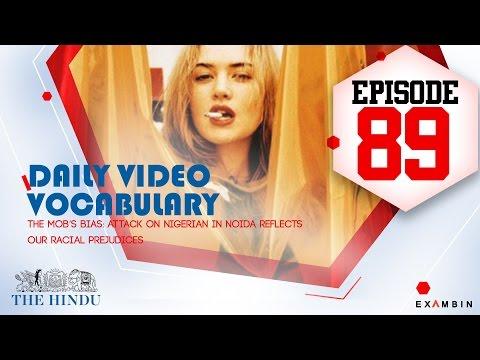Vocabulary Episode 89|Prejudice,suburb,trend,instance,bystander|THE HINDU Editorial Words