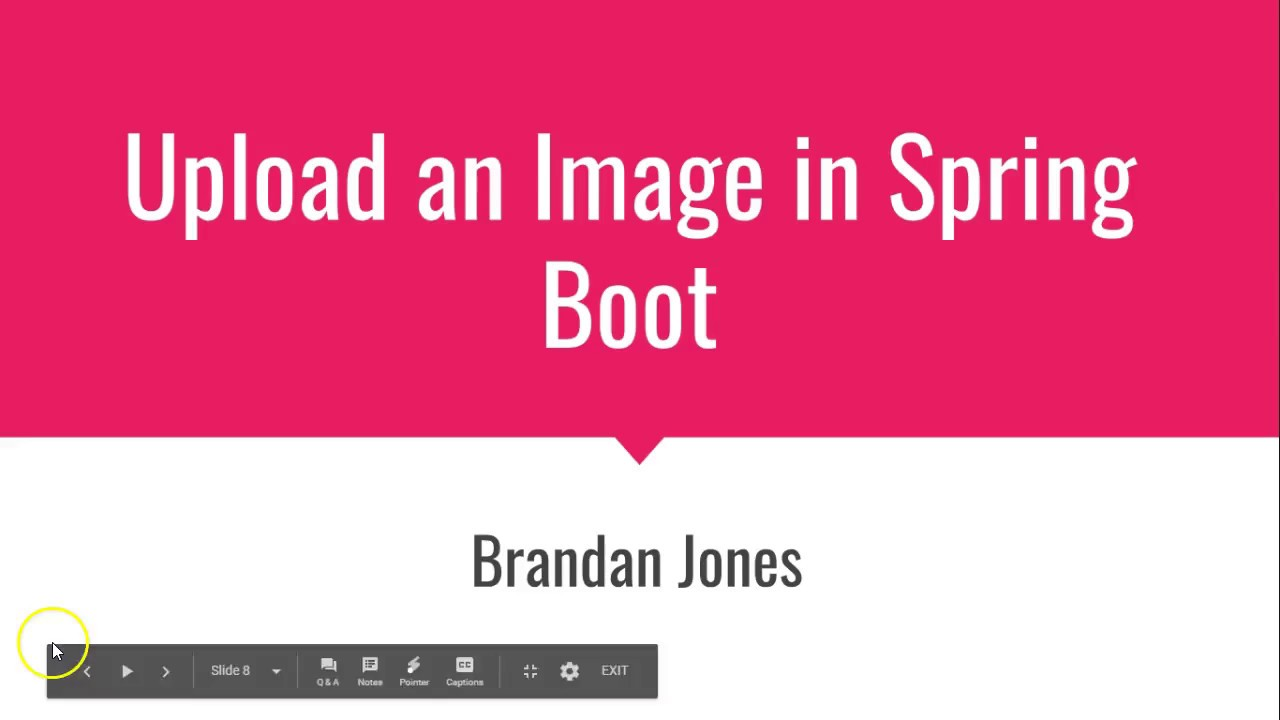 Upload an image in Spring Boot
