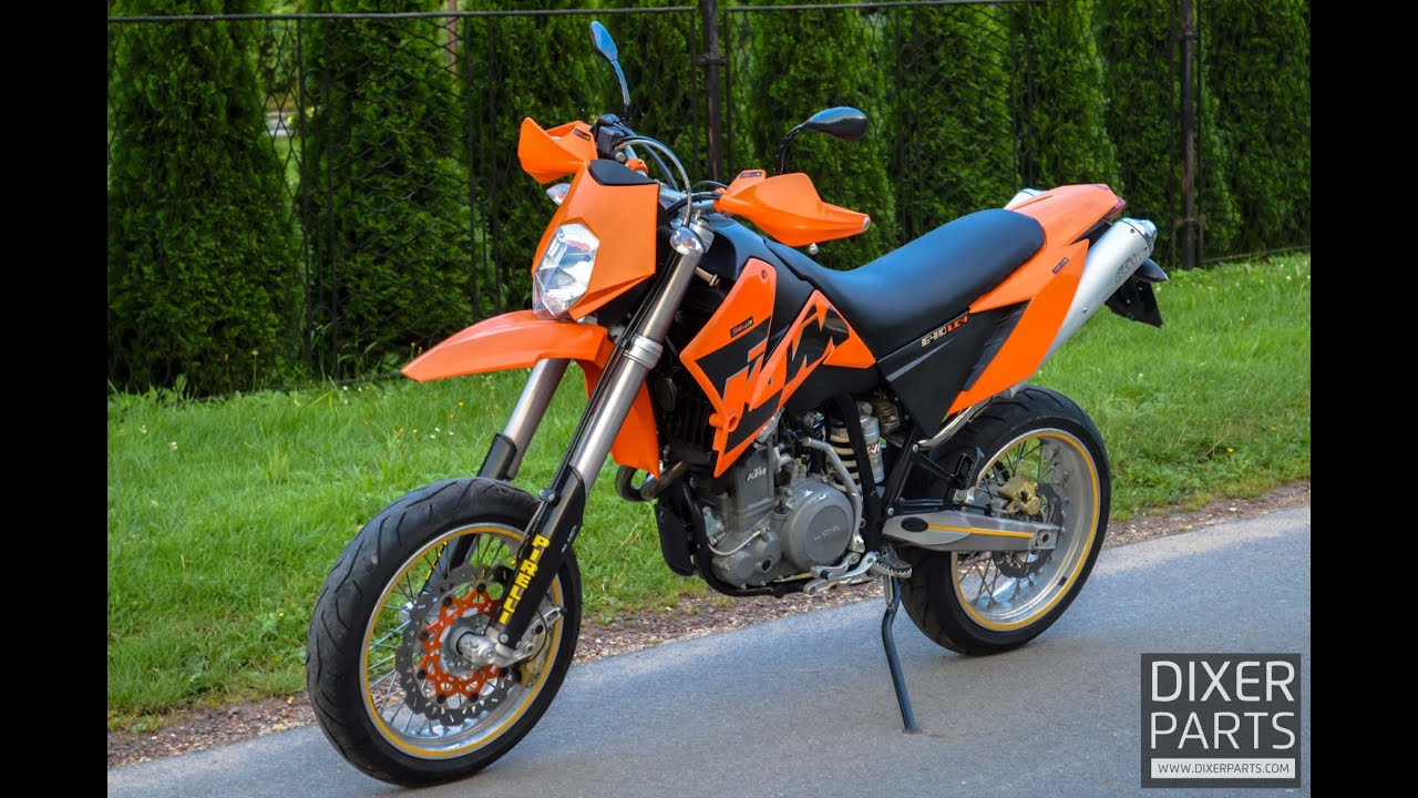 ktm lc4 640 supermoto sm 2005r stan perfekcyjny youtube. Black Bedroom Furniture Sets. Home Design Ideas