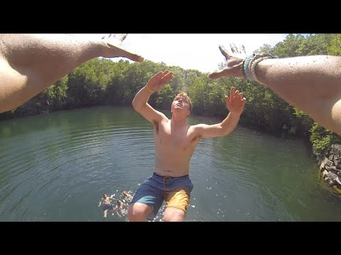 Summer Time Cliff Jumping In Rhode Island