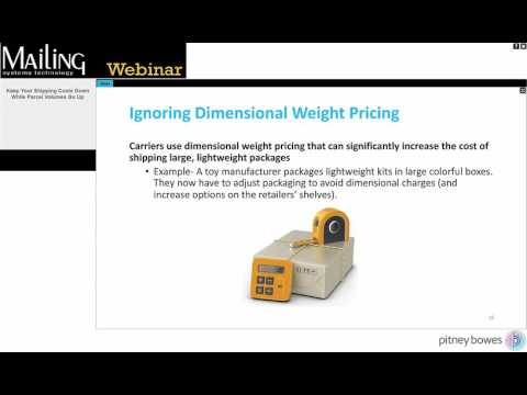 Webinar:  Keep Your Shipping Costs Down  While Parcel Volumes Go Up