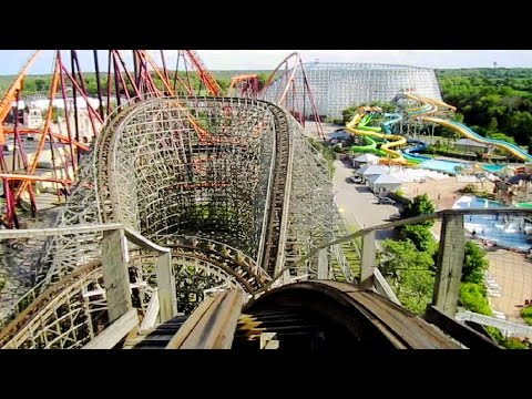 Viper front seat on-ride HD POV Six Flags Great America