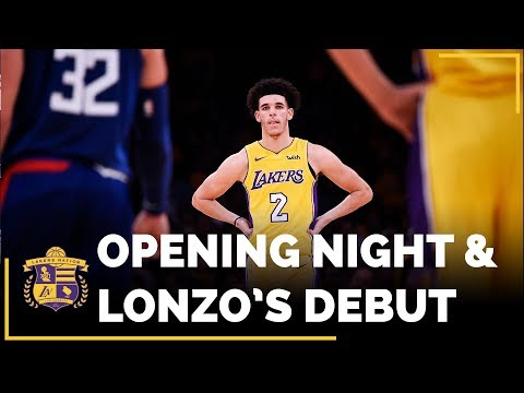 Lakers Opening Night And Lonzo Ball's Rookie Debut