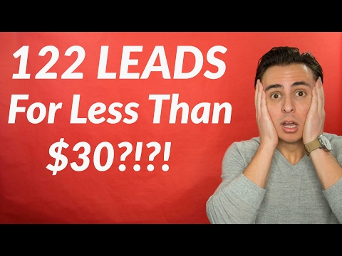 This Agent Captured 122 Leads For Less Than $30?!? How?!?