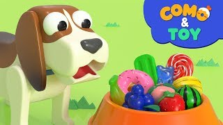 Como and Toys   Smart puppy toy   Learn colors and words   Cartoon video for kids   Como Kids TV