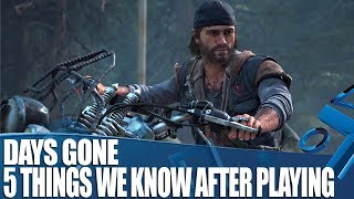 Days Gone New Gameplay - 5 Things We Know After Playing!