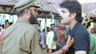 Nagarajuna Giving Warning To His Subordinate Acton Scene    Shivamani Telugu Movie