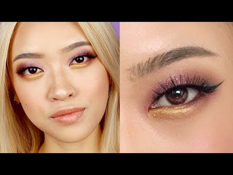c25c7ea0671 Purple and Gold Eyeshadow + NEW HAIRBack with a makeup tutorial on this  purple and gold eyeshadow look! I love how it turned out and