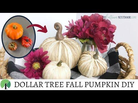 Dollar Tree Fall Pumpkin DIY 2019 - Farmhouse Pumpkin Decor
