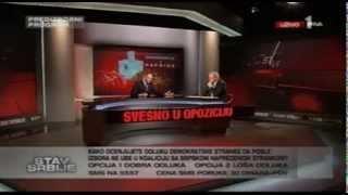 Dragan Đilas u emisiji Stav Srbije na TV Prva - izvod (23.2.2014)
