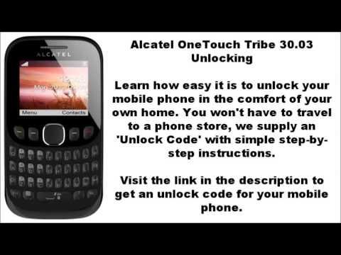 Alcatel 3003g network key