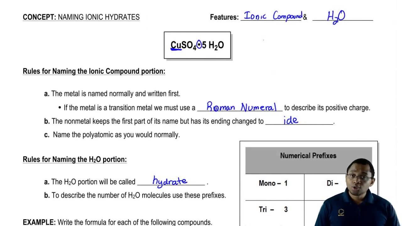 Rules For Naming Ionic Hydrates