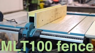 Improving Makita table saw - rock solid fence.